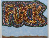 Fuck No.1 - Trippy lowbrow psychedelic drawing by Marker Magus - outsider art from Australia - HyperPsych