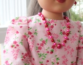 Jewelry for 18 inch doll  red and pink- American Girl - My Life as - My Generation  etc: