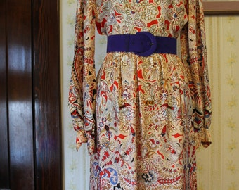 Sweet 1960s Homemade Dress with Scalloped Hem