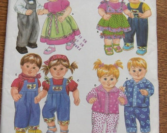 2006 simplicity pattern 4268 15 inch baby doll clothes toy children girl