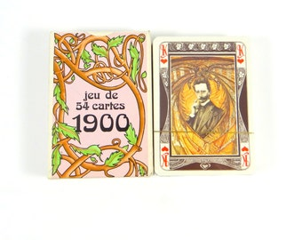 Vintage Grimaud Jeu De 54 Cartes 1900 Playing Cards Sealed in Original Plastic