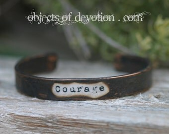 COURAGE * Inspirational Jewelry * Inspirational Bracelet * Spiritual Gift * Spiritual Jewelry * Inspirational Gift * Encouragement * Bravery