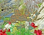 Labrador Retriever Angel / Grave MarkerGarden Stake /  / Metal Yard Art / Copper / Pet Memorial  / Memorial Dog / Artist Favorite
