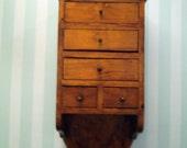 Vintage Wall cupboard Hand crafted Folkart Wall/Countertop cupboard