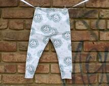 Baby leggings girl/boy lion print organic cotton knit