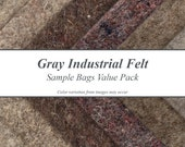 Natural Gray Industrial Felt Sample Bags Value Pack