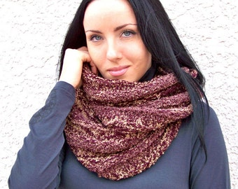 Knit Scarf Pattern, Knitting Patterns, Infinity Scarf Pattern, Cowl Pattern, Cowl Scarf, Circle Scarf, Knitting Pattern, Chunky Knit Scarf