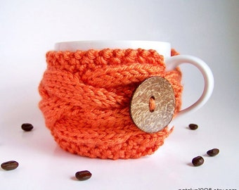 Coffee Cup Cozy, Coffee Cup Sleeve, Tea Cozy, Coffee Cozy, Coffee Mug Cozy, Knit Coffee Cozy, Knit Coffee Sleeve