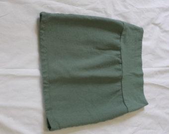 XSmall Organic Cotton Fleece Mini Pencil Skirt Ready To Ship  Women's Organic Cotton Clothing Made in the USA