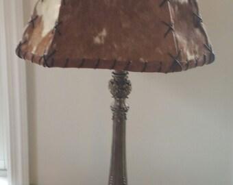 Cowhide lamp shade   Etsy