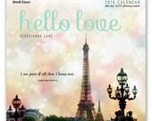 2016 Paris Calendar - Paris Wall Calendar, Inspirational Calendar, Paper Goods, Paris Stationery, Eiffel Tower, Travel Calendar, Wall Art