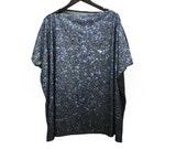 SAMPLE SALE. Blue Stardust Galaxy Jersey Top