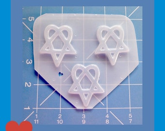SALE 3 Heart A Gram Shapes   Handmade Flexible  Resin  Mold