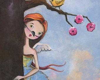 I Speak For The Trees, Girl Art Print