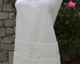 Sexy Dame Bridal Apron with 6 pockets, something new...someting blue.