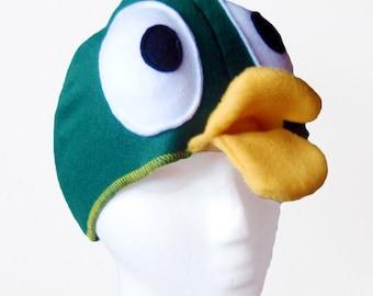 Big-Eyed Duck Hat. Five Sizes: Newborn to XL.