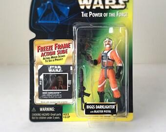 Vintage Star Wars Figure X-Wing Pilot, Biggs Darklighter - 90's Kenner Star Wars Kids Toy - Luke Skywalker's Tatooine Friend - Ready to Gift