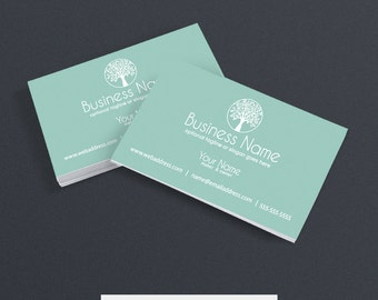 30% OFF SALE Business Card Designs - Printable Business Card Design - Wellness Business Card Design - Tree 2