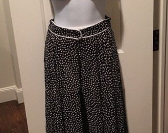 Gottex Bikini & Cover Up Long Skirt Swim Swimsuit Outfit Polka Dot Black 3 piece