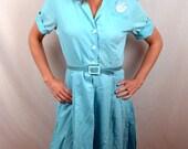 RARE 60s MUSEUM QUALITY Vintage 1964 Seattle World's Fair Uniform Dress