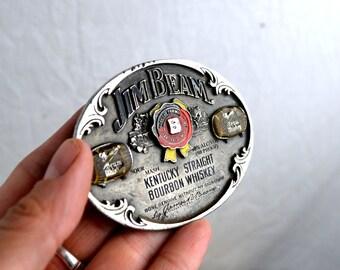 Vintage Jim Beam Whiskey 1990s 90s Belt Buckle