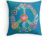 Peace Pillow Cover 16x16, 18x18 or 20x20