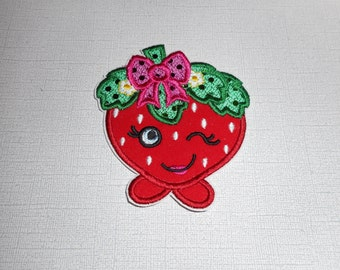 Free Shipping Ready to Ship Strawberry Fabric iron on applique