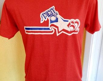 Spirit of 1982 soft vintage tee shirt - red size large