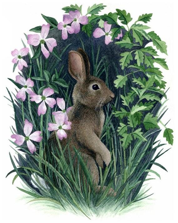 Fine Art Print of Original Watercolor Painting - Woods Edge