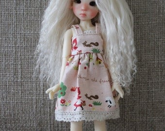 """Nordic Blond mohair wig for Kaye Wiggs tiny """"illies"""""""