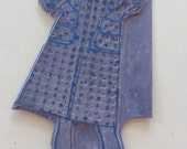 Vintage 1960s Sears Advertising Printing Plate-Blouse and Tweed Skirt