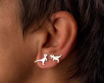 Tyrannosaurus Stud Raptor Stud Dinosaur Earrings T Rex Earrings Sterling Silver Teen Kids Jewelry Dino Jewelry jurassic Personalized gift
