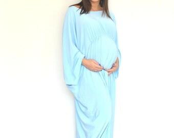 Long  'Lovely Lucy'  Maternity Dress, Maternity maxi dress, Long maternity dress, Evening maternity dress, Plus size maternity dress