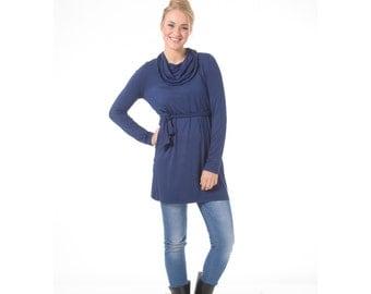 Long sleeve tunic, Women winter tunic top, Blue tunic top, Long sleeve tops, Oversize women top, Winter long sleeve top, Plus size winter