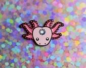 Axolotl Enamel Pin, Axolotl Pin, Pink Axolotl Pin, Lapel Pin