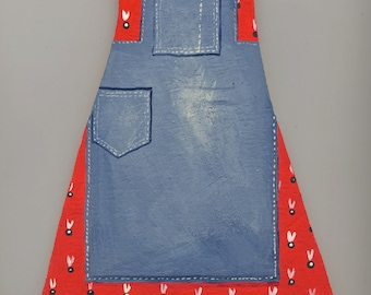 The Dress + Apron.  Hand painted onto plywood