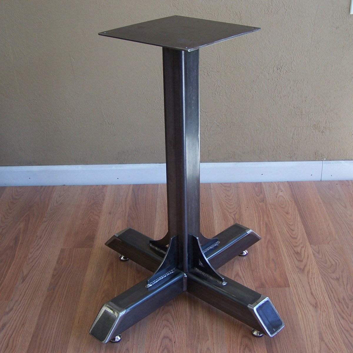 Bistro cafe table base heavy duty industrial steel pedestal Metal table base
