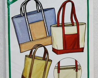 Rugged Tote or Portfolio Sewing Pattern  The Green Pepper F851 4 Sizes in Each Style