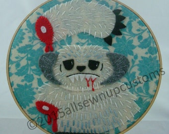 """Star Wars Severed Wampa Arm Hand Embroidery 