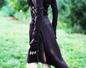 Dress / High Low Dress / Low High Dress/  Lace Up Dress / Casual Dresses