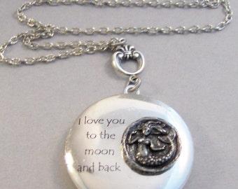 Mermaid Love,Locket,Silver Locket,Mermaid,Mermaid Locket,Mermaid Necklace,Ocean,Antique Locket,Antique,Woodland,Love You valleygirldesigns.