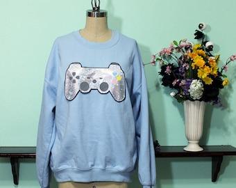 Kawaii Video Game Controller Oversized Sweatshirt Sizes S-5X