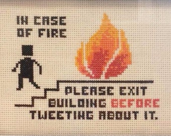In Case of Fire - Cross Stitch Pattern