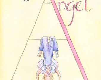 A is for Angel Limited Edition Giclee Print
