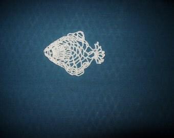 Crochet Puffer  Fish Doily Ready To Ship