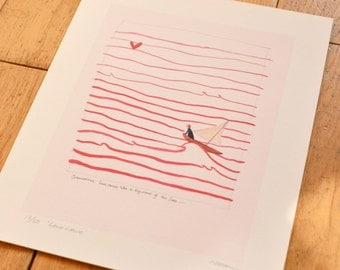 Love print - Love wave limited edition print - a perfect wedding gift