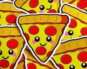 Pizza Slice Vinyl Sticker - 10cm fun food paper stationery stickers cute kawaii