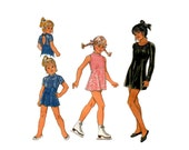 Girls Leotards with Skirts Pattern Kwik Sew 2886 Dance Exercise Wear Size 4 5 6 7 UNCUT