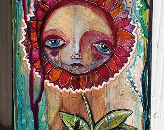 In Bloom - Original mixed media artwork