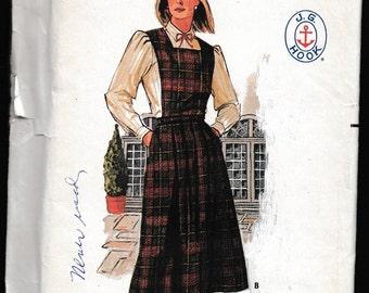 Butterick 6752 Misses Skirt, Bib and Shirt J.G. Hook